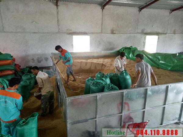 Cung cấp máy sấy lúa 10 tấn Tại Thái Bình