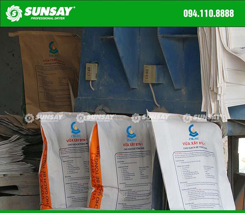 Máy đóng bao vữa khô dây chuyền sản xuất vữa khô xây dựng