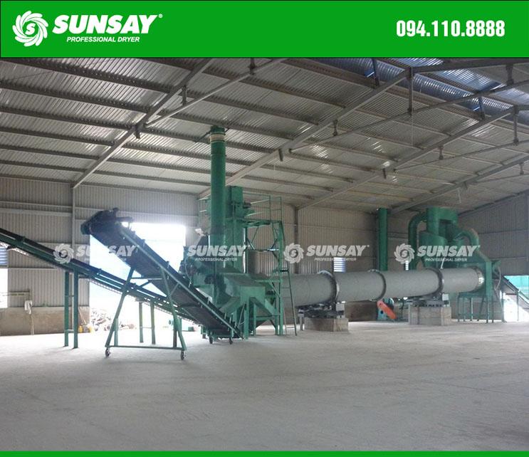 Máy sàng cát vữa khô dây chuyền sản xuất vữa khô xây dựng