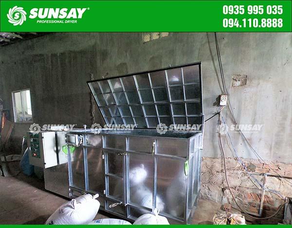 Máy sấy vĩ ngang sấy đậu phộng Quảng Nam