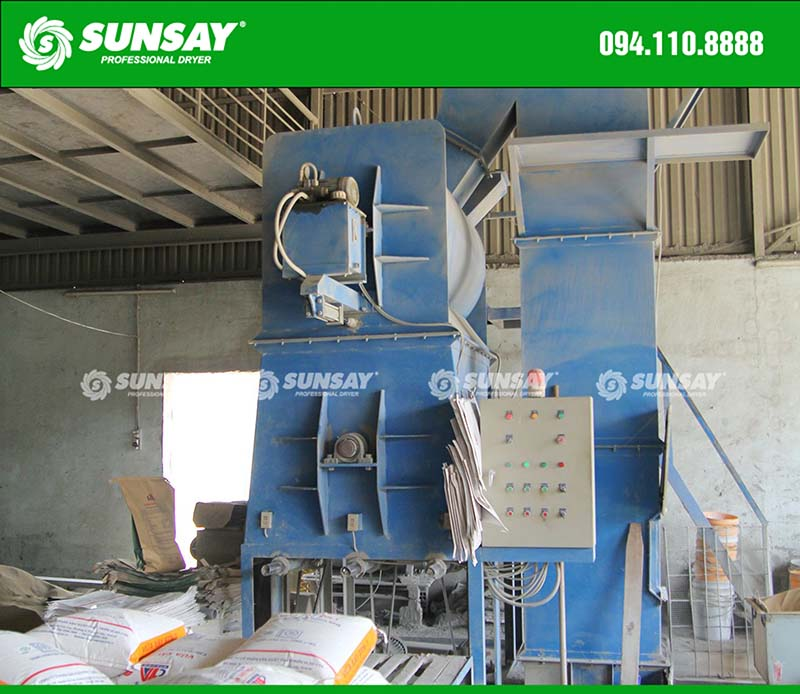 Máy trộn vữa khô dây chuyền sản xuất vữa khô xây dựng