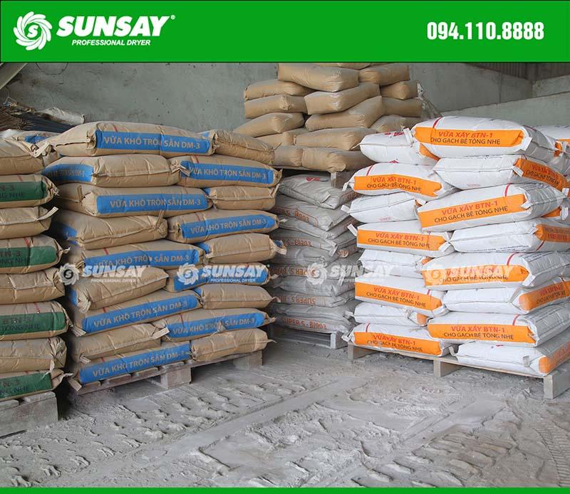 Sản xuất vữa khô xây dựng chất lượng cao