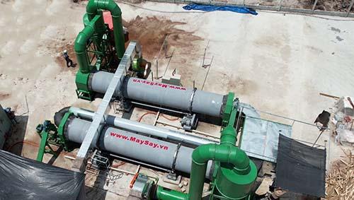 Công trình máy sấy mùn dừa