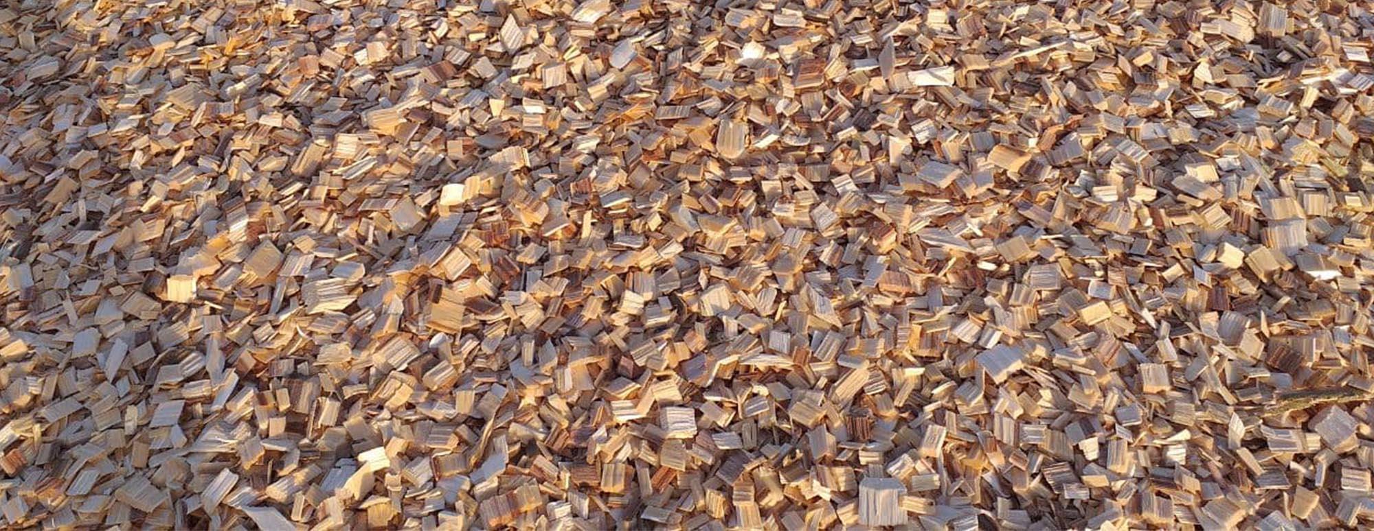 Dăm gỗ xuất khẩu được băm từ máy băm GREENMECH