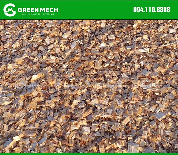 Dăm gỗ xuất khẩu từ máy băm gỗ GREEN MECH