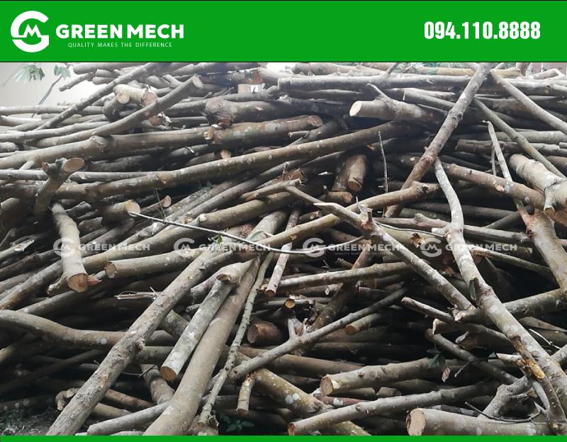 Nguyên liệu gỗ cao su máy nghiền mùn cưa GM-150SM