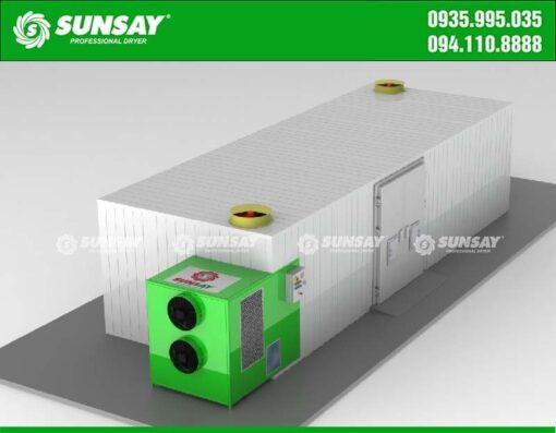 Thiết kế máy sấy bơm nhiệt 5 Tấn
