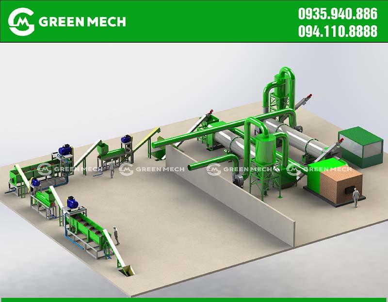 Thiết kế nhà máy sản xuất mùn dừa xuất khẩu
